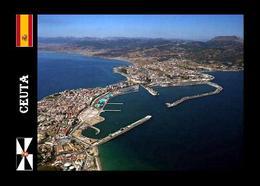 Ceuta City Port Aerial View New Postcard - Ceuta