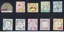 Japan 2018 - Traditional Japanese Design Series 4 & Traditional Japanese Design Series 3 (2017) - Used Stamps