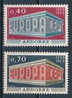 °°° ANDORRA - Y&T N°194/95 - 1969 MNH °°° - Andorra Francese