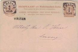 INDES NEERLANDAISES - WIROSARI - POUR SEMARANG - ENTIER POSTAL DU 4-9-1895 - RARE GRIFFE LINEEAIRE. - Nederlands-Indië