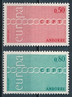 °°° ANDORRA - Y&T N°212/13 - 1971 MNH °°° - Andorra Francese
