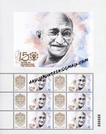 2019 Gandhi 150th Birth Celebrations Commemorative Souvenir Sheet FromHungary Ltd Issued - Mahatma Gandhi