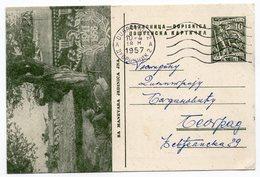 1956 YUGOSLAVIA, SA MANEVARA JNA, MILITARY MANEUVERS, 10 DINARA GREEN, USED, ILLUSTRATED POSTCARD - Yugoslavia