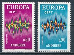 °°° ANDORRA - Y&T N°217/18 - 1972 MNH °°° - Andorra Francese