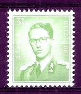 BELGIE Boudewijn Bril * Nr 1068 * Postfris Xx * WIT PAPIER - 1953-1972 Lunettes