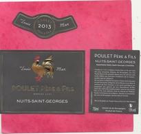 POULET PERE & FILS . NUITS-SAINT-GEORGES . ETIQUETAGE COMPLET DE 3 PIECES DE 2013 - Galli
