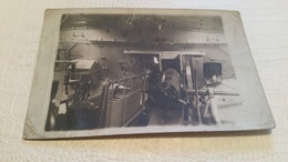 """B5/carte Photo -intérieur D""""une Pièce D'artillerie - Foto"""