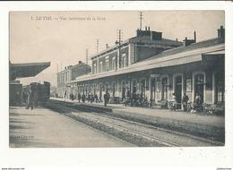 07 LE TRIL VUE INTERIEURE DE LA GARE AVEC TRAIN CPA BON ETAT - Bahnhöfe Mit Zügen