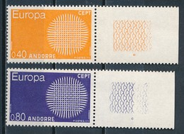 °°° ANDORRA - Y&T N°202/3 - 1970 MNH °°° - Andorra Francese