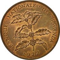 Monnaie, Rwanda, 5 Francs, 1977, British Royal Mint, TTB, Bronze, KM:13 - Rwanda