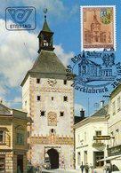 Österreich 1984  MiNr. 1777  Maximumkarte ; 850 Jahre Vöcklabruck - Unterer Stadtturm - Maximumkarten (MC)