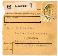 Paketkarte Mit EF 80 Pfg. Hindenburg Vom Unterrand - Deutschland