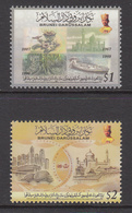 2012 Brunei Currency Singapore  Complete Set Of 2 MNH - Brunei (1984-...)