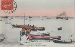 CPA Arcachon - Les Bords Du Bassin Et Vapeurs En Partence (pour Partance) - Arcachon