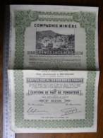 Titre Crée Après Le 6/10/1944 Compagnie Minière Des Grands Lacs Africains - Congo Belge - Part Sociale - - Non Classés
