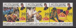 2003 Brunei Asean Japan Exchange Drums Music Kites   Complete Set Of 3 MNH - Brunei (1984-...)