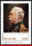 Ref. BR-1690 BRAZIL 1980 FAMOUS PEOPLE, DUKE OF CAXIAS, PATRON OF, ARMY, PAINTING, MNH 1V Sc# 1690 - Brésil