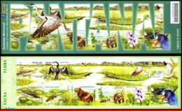 Ref. BR-2826 BRAZIL 2001 ANIMALS, FAUNA, PANTANAL, BIRD,FISH,, MERCOSUL,MI# 3197-06,NO FOLDED MNH 10V Sc# 2826 - Poissons