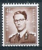 BELGIE Boudewijn Bril * Nr 1068A * Postfris Xx * WIT PAPIER - 1953-1972 Lunettes