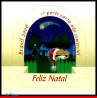 Ref. BR-2996 BRAZIL 2006 CHRISTMAS, MAILBOX, RELIGION,, GLITTER ON STAMP, MNH 1V Sc# 2996 - Neufs