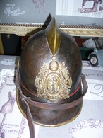 Casque De Pompier PRUSSIEN Marine Impériale - Headpieces, Headdresses