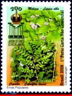 Ref. BR-3050 BRAZIL 2008 FLOWERS, PLANTS, BOTANICAL GARDEN OF RIO,, MEDICINAL POLULAR HERBS, MNH 1V Sc# 3050 - Médecine