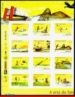 Ref. BR-3270-LE BRAZIL 2014 FOOTBALL-SOCCER, WORLD CUP CHAMPIONSHIP,, THE ART OF BRAZILIAN SOCCER, MNH 12V Sc# 3270 - Unused Stamps