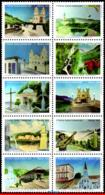 Ref. BR-3316 BRAZIL 2015 ARCHITECTURE, CIRCUIT OF THE WATERS,, CHURCHES, MUSIC, TRAIN, SET MNH 10V Sc# 3316 - Musique