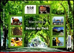 Ref. BR-V2016-01 BRAZIL 2016 ARCHITECTURE, BELEM DO PARA WONDERS,400, YEARS, THEATER, FRUITS, FORT, S/S MNH 8V - Brésil