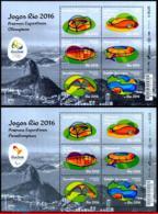 Ref. BR-V2016-13-3 BRAZIL 2016 SPORTS, OLYMPIC PARALYMPIC GAMES,, RIO 2016, ARENAS, UPAEP, MINI SHEETS MNH 12V - Brasilien