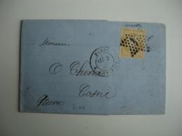 Paris Etoile 4 Sur Lettre Timbre Ceres 40 C Orange - 1849-1876: Période Classique