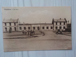 1937 CP Plombières La Gare Ancienne Automobile Garçons Qui Posent - Plombières