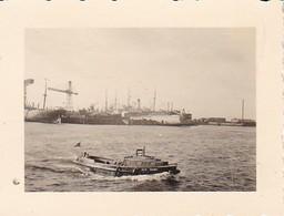 Foto Hamburg Hafen - Werften Dampfer Barkasse - Ca. 1940 - 5,5*4cm (40387) - Orte