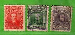 (Us3) BOLIVIA° - 1912 - Yvert. 97-98-100  - Used Oblitéré Vedi Descrizione. - Bolivia