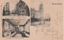 57 - THIONVILLE - CAFE DE PARIS - 3 VUES - CARTE RARE - Thionville