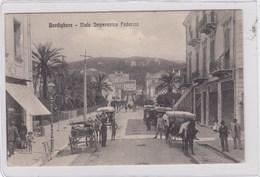 BORDIGHERA-IMPERIA-VIALE IMPERATRICE FEDERICO-ANIMATISSIMA-CARTOLINA VIAGGIATA TRA IL 1906-1915 - Imperia