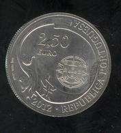 2,5 Euros Portugal Argent 2012 - Agrès - SUP - Portugal