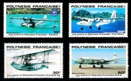 POLYNESIE 1980 - Yv. PA 156 157 158 Et 159 **   Cote= 5,50 EUR - Avions En Polynésie (4 Val,)  ..Réf.POL23681 - Airmail