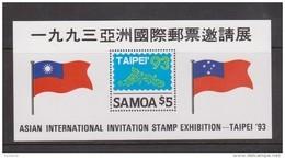 Samoa 1993 Taipei Stamp Expo & Flag Miniature Sheet MNH - Samoa