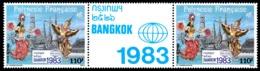 POLYNESIE 1983 - Yv. PA 177A = 177 En Paire ** SUP  Cote= 8,40 EUR - Tryptique Expo Phil. Bangkok' 1983  ..Réf.POL23698 - Airmail