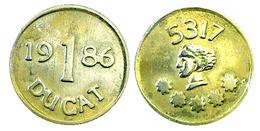 03344 GETTONE JETON TOKEN 1 DUCAT 1986 Reclamepenningen - Netherland