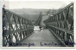 """- Pont éffondré Aux  Environs De """" Boulay """", Cliché, Carte Photo, Photographe  KROENNER, 1957 ?, TTBE, Scans. - France"""