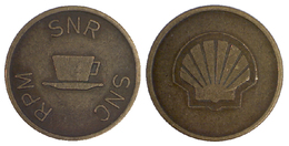 03639 GETTONE JETON TOKEN THE NETHERLANDS DISPENSER MACHINE CAFFE COFFEE SHELL RPM SNR SNC - Netherland