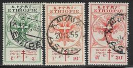 Ethiopia Scott # B21-2,B24 Used Tree, Staff, Snake, 1951 - Ethiopia
