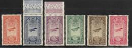 Ethiopia Scott # C11-6 Mint Hinged Short Set Airplane And Map, 1931 - Ethiopia