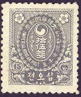 KOREA COREE 1900 Mi. 21 Scott #26 Yt 25 NEUF * Charnière 15 Ch Gris-violet - Korea (...-1945)