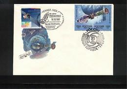 Russia SSSR + Germany  1997 Space / Raumfahrt   Interesting Cover - Rusia & URSS