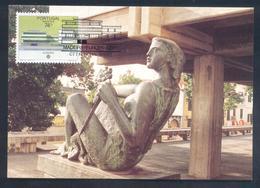 Portugal MADEIRA 1987 Maximum Card: Europa CEPT; Art Sculpture: Architecture - Europa-CEPT
