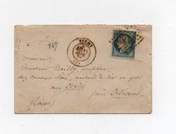 Petite Enveloppe Timbrée Timbre Bleu 25 C Vichy à Orléans à Mr Bailly Professeur - Marcophilie (Lettres)