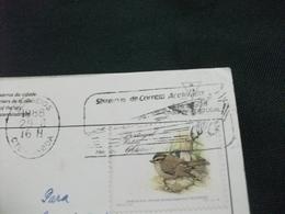STORIA POSTALE  FRANCOBOLLO COMMEMORATIVO UCCELLO  PORTOGALLO PORTUGAL LISBOA CALCADINHA DI S.MIGUEL PIEGA ANG. - Lisboa